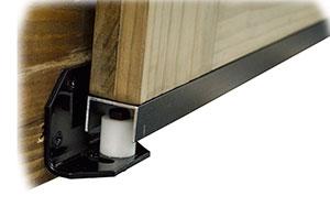 Door Stay Roller Amp Adjustable Black Powder Coated Bottom